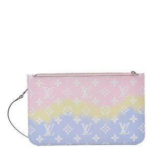 LOUIS VUITTON Escale Neverfull Pouch Pastel